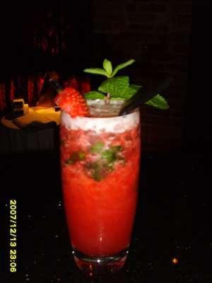 Strawberry and Mint Non-Martini