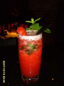 Strawberry and Mint non-martini