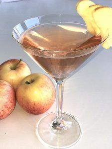 Pep Tea brand Apple Pomegranate kombucha cocktail